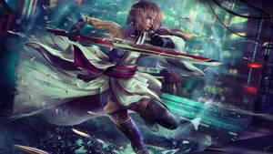 Cyberpunk Fantasy - 4K Wallpaper Art Commission