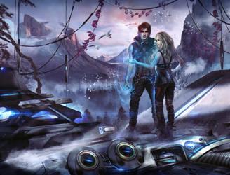 Scifi-Fantasy Book Cover 'Neron Nights'