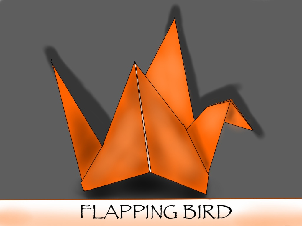 Flapping Bird Origami by KEVSKY-DRAWS