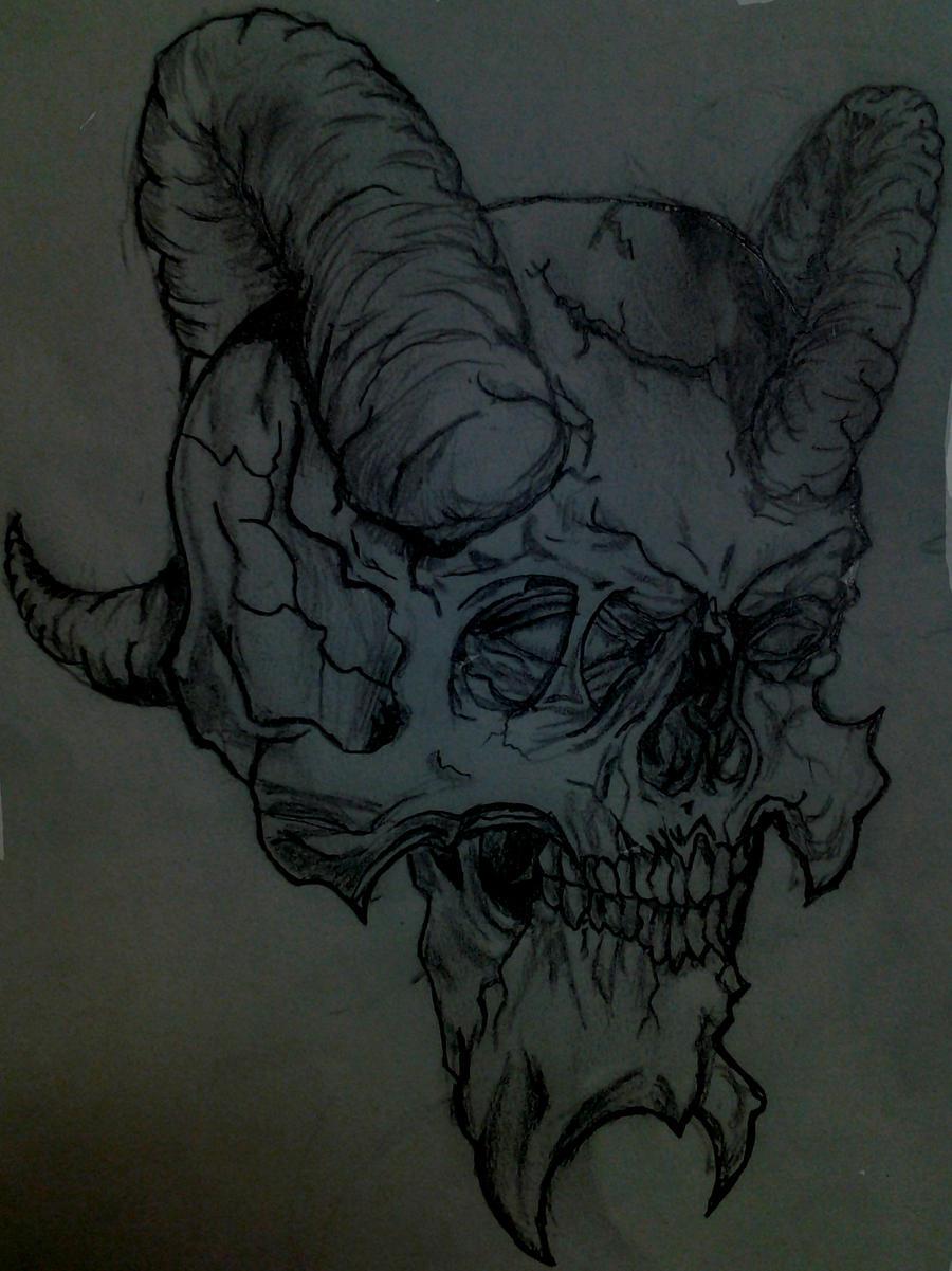 Demon Skull Sketch by