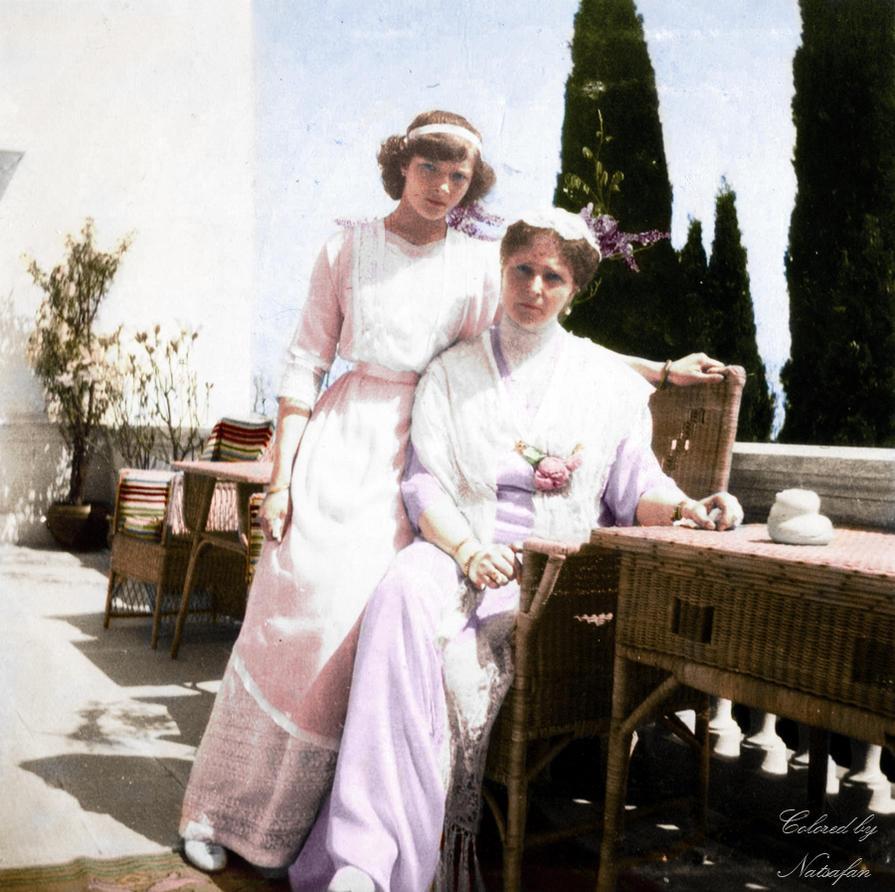 Tatiana and Alexandra ~ colored photo by natsafan