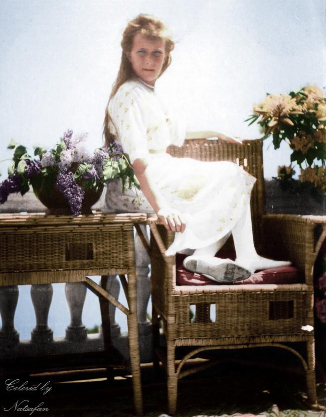 Anastasia on the balcony ~ colored photo by natsafan
