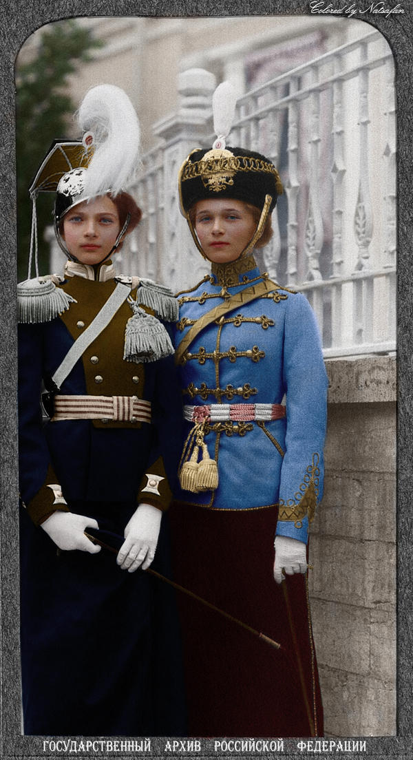 Tatiana and Olga ~ colored photo