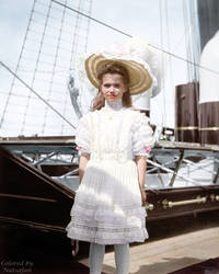 Maria onboard the Standart ~ colored photo