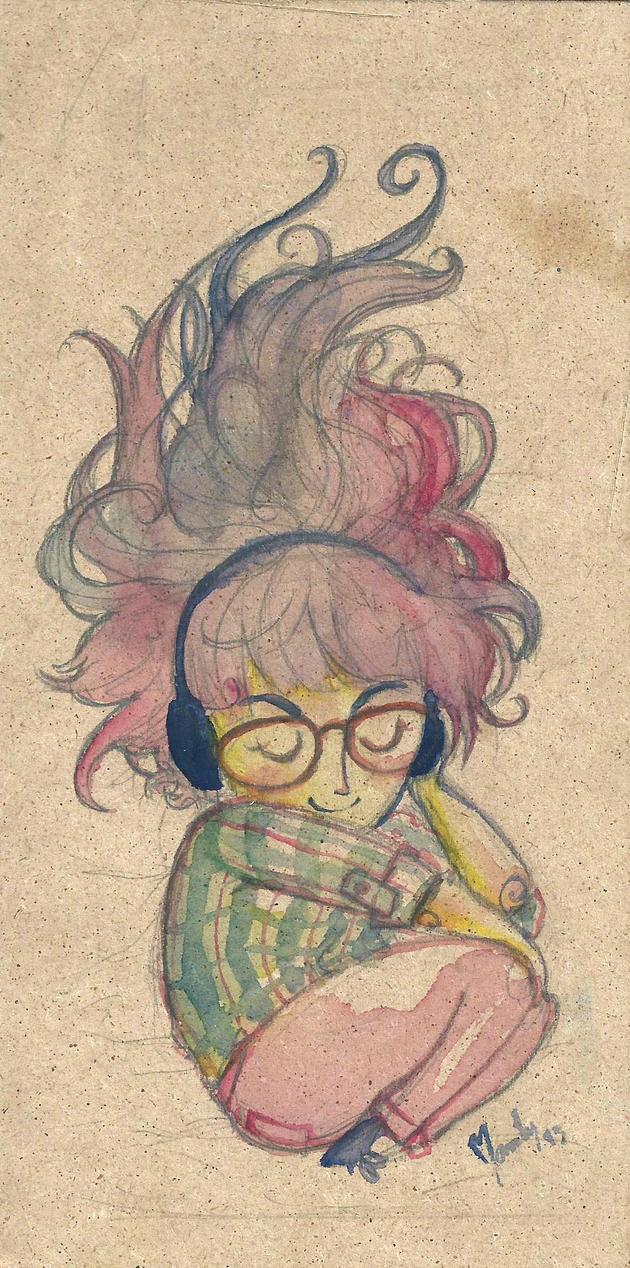 Nina acuarela by Manty-chan