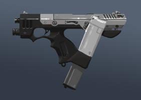 Snub machine pistol by kiolia