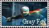 Gray Fox Stamp by MetalShadowOverlord