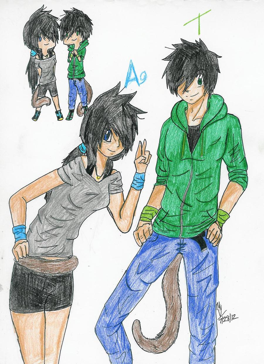 Taro and Azul by SakanaxSoixMimiru