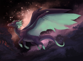 Dragon with stars