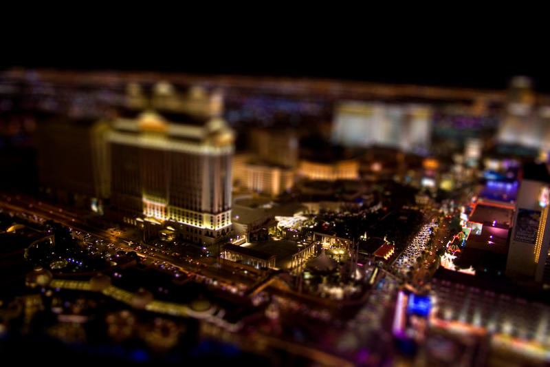 vegas tilt shift by jeffreyhing