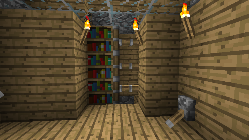 minecraft hidden bookcase by minecraft hidden bookcase by - Bookcase Door Minecraft. Bookcase Door That Replaces Your Door 7