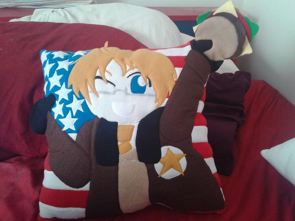 Hetalia America Pillow by RedAlaina