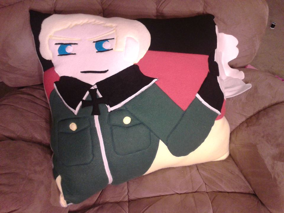 Hetalia Germany Pillow by RedAlaina