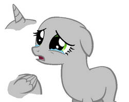 MLP Base - Sad and Crying by Butterfly-Bases