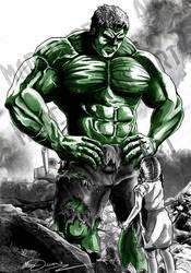 'Hulk Has A Booboo' By Marc Ducrow by MarcDucrow