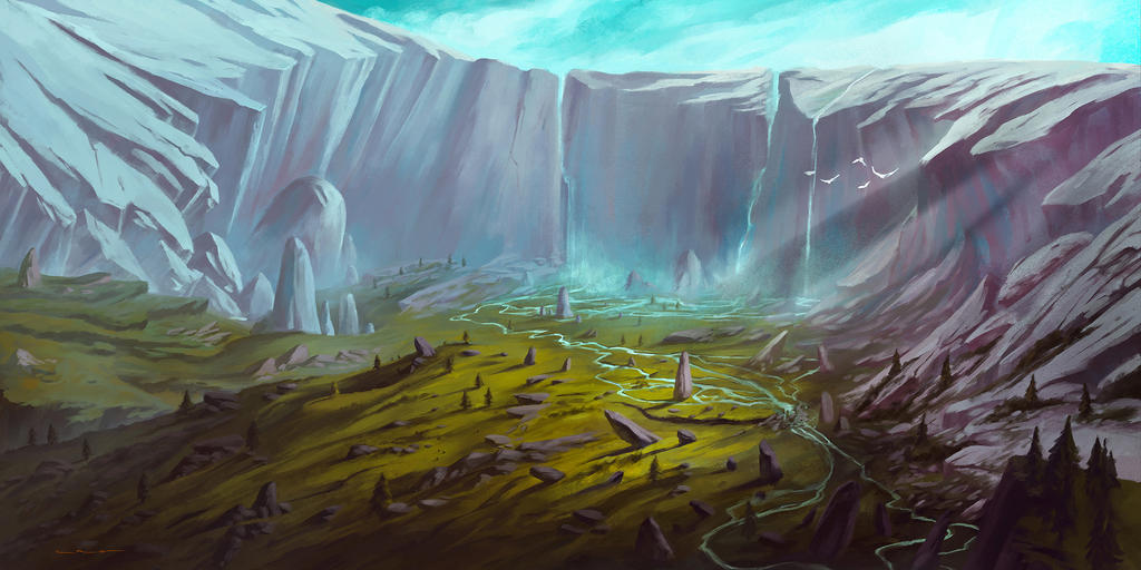 Divided Soul - Valley of Legends by lorantart