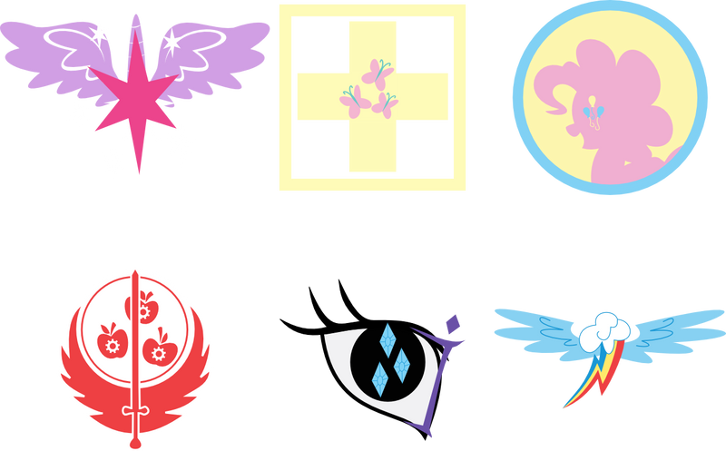 Fallout Equestria - Ministries Logos by MilekHippy