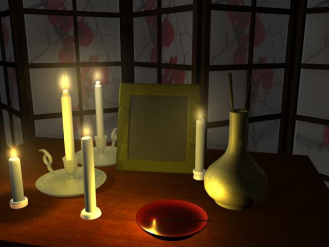 texturing and lighting on a 3D scene