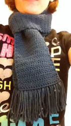 Crocheted Sherlock Cosplay Scarf by LunarCatNinja