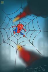 Little Bug as Spiderman