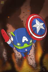 Little Bug as Captain America