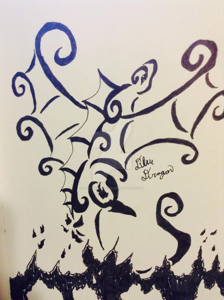 elegant fire dragon tattoo by babybludragon on deviantart. Black Bedroom Furniture Sets. Home Design Ideas