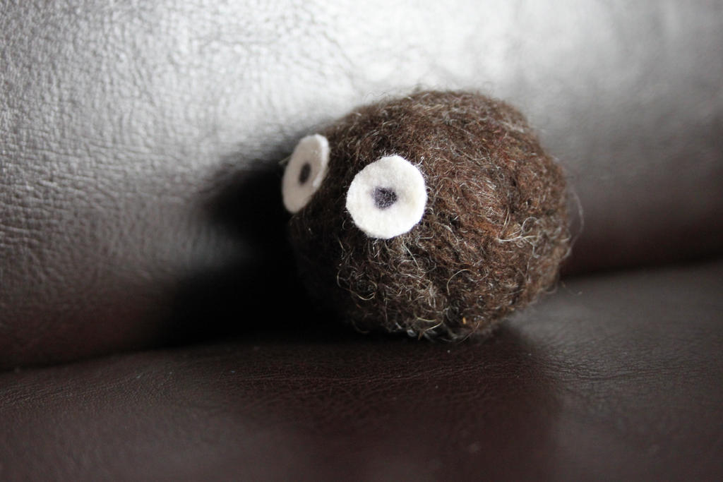 needle felted Ghibli soot ball by FlamewolfTheWhite