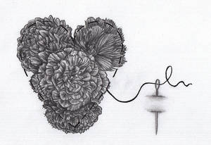 Heart And Carnations Tattoo