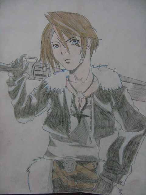 Squall Leonhart Dissidia by relentlessrevolver