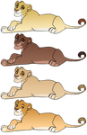  OPEN  Simple Relaxing lioness set by AidensEye