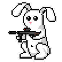 Snowball the battle bunny by LordVanDemon