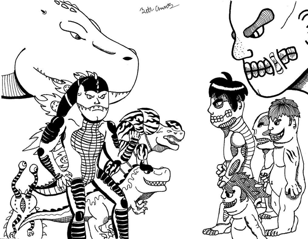Kaijus vs Titans: Who Do You Choose To Win by Zethasaurus