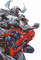 Spiderman and Moonknight by Shyaway7