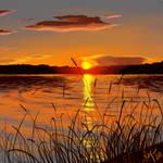Sunset-Landscape Study