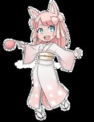 (COMM) Raelynn (Yukata Ver.) by fluffylittlekittycat