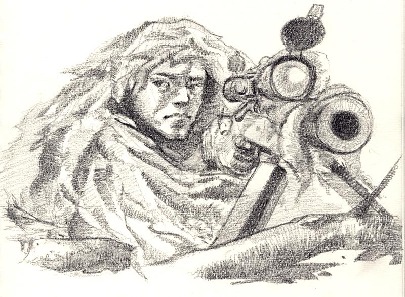 Открытки снайпер, привет