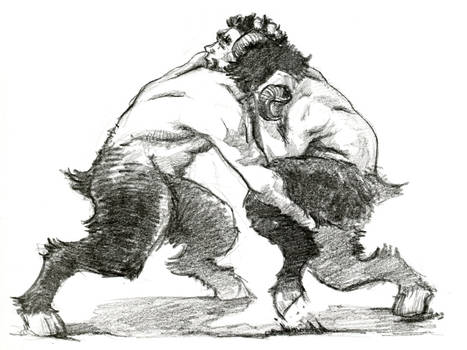 wrestling fauns