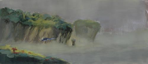 gouache landscape...thing by gekitsu