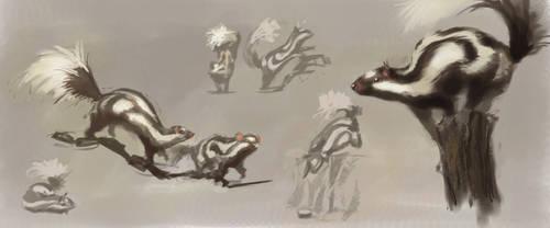 animal study: spotted skunk by gekitsu