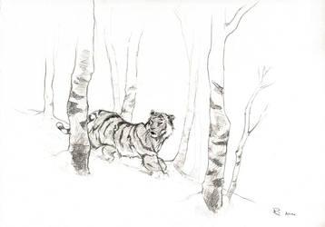 siberian tiger by gekitsu
