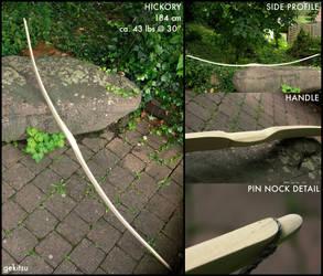Hickory board bow