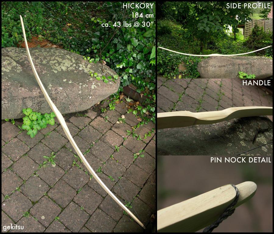 Hickory board bow by gekitsu