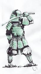 Samurai sketch by gekitsu