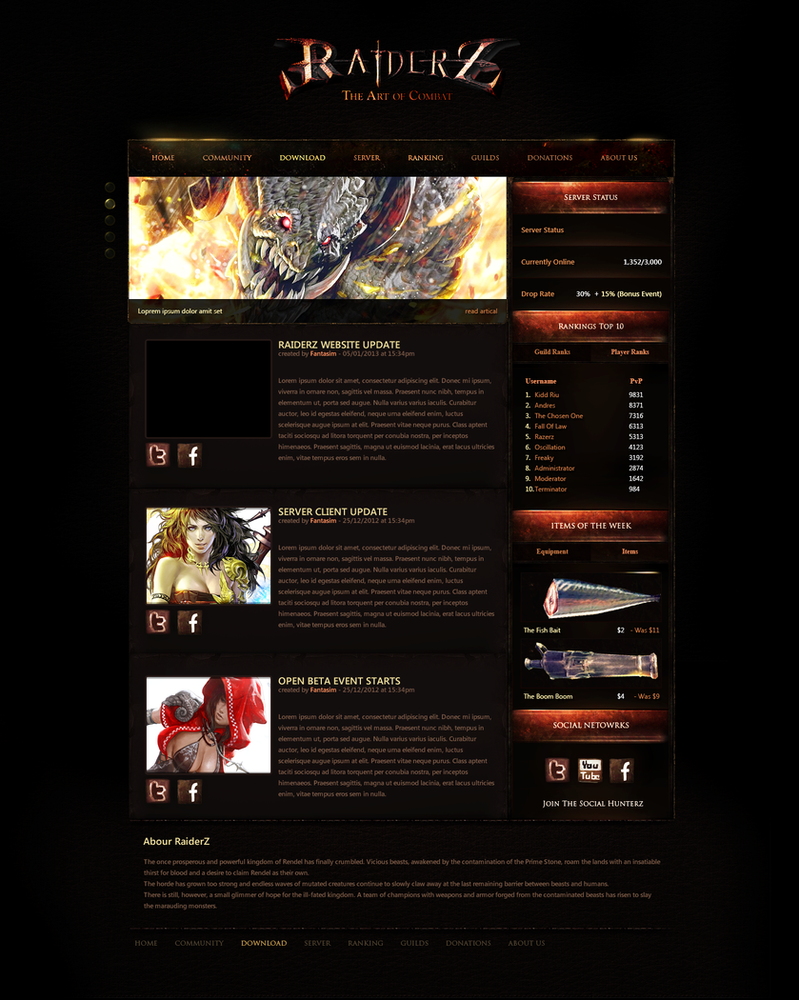 RaiderZ Design 2 - For Sale by Peanut-Designs