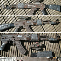 Hand Painted Post Apocalyptic AK47 by steelgohst