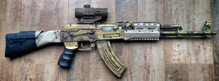 Gold AK47 prop by steelgohst@hotmail.com