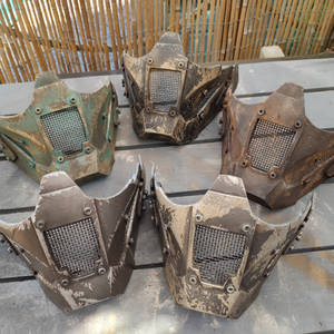 Post apocalyptic face armour