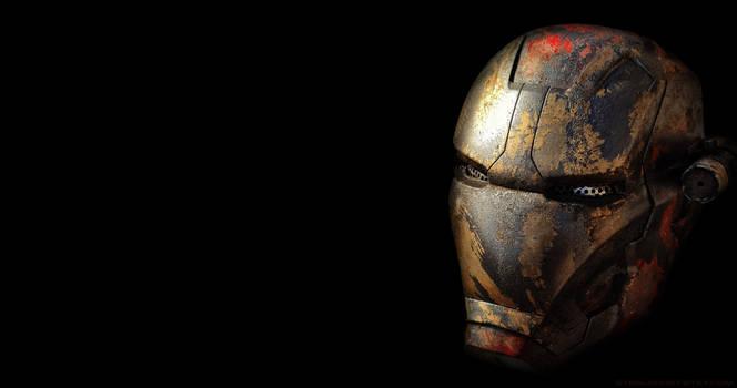 Post apocalyptic Iron Man helmet by steelgohst