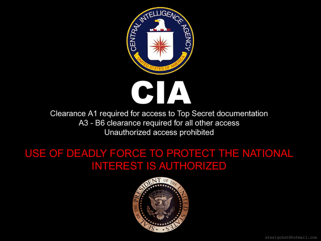 CIA WALLPAPER by steelgohst