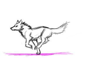 Wolf Animation test by Sunima